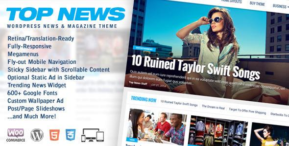 top news wordpress theme
